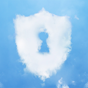 Security shield out of clouds