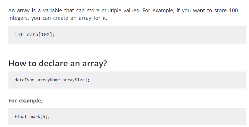 an array is a variable that can store multiple