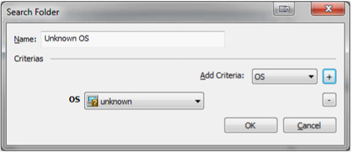 Core Impact search folder screen
