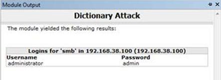 Morto Dictionary Attack Output
